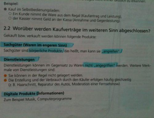 """""""Sachgutbenützung"""" versus """"Dienstleistung"""""""